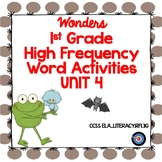 High Frequency Word Activities for Wonders Grade 1 Unit 4