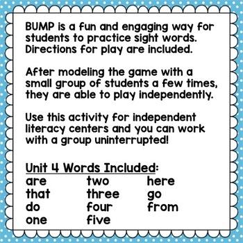 Sight Word Games Kindergarten