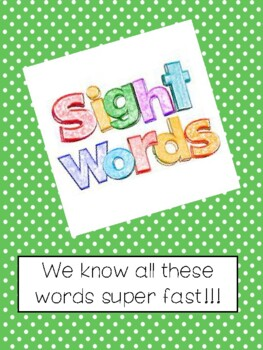 High Frequency Word Book