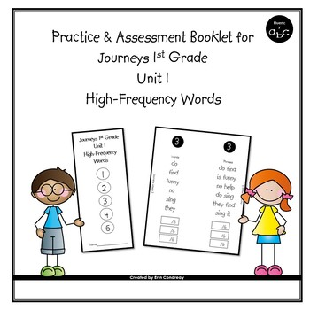 High-Frequency Word Booklet for 1st Grade Journeys Unit 1