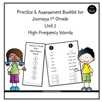High-Frequency Word Booklet for 1st Grade Journeys Unit 2