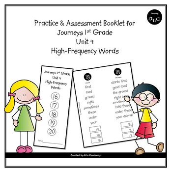 High-Frequency Word Booklet for 1st Grade Journeys Unit 4