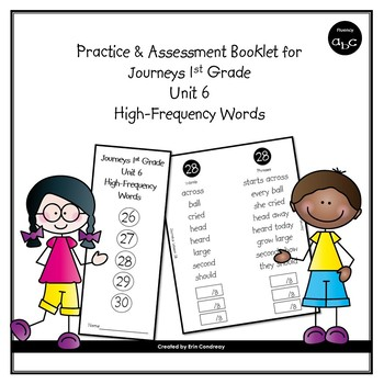 High-Frequency Word Booklet for 1st Grade Journeys Unit 6