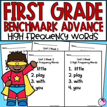 High Frequency Word Booklets for Benchmark Advance First Grade