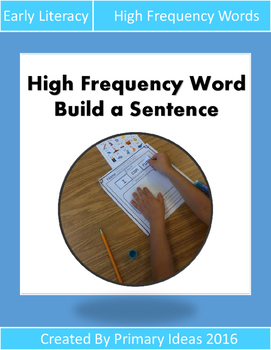 High Frequency Word Build a Sentence