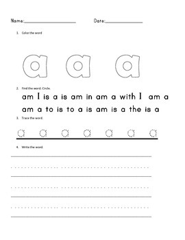 High Frequency Word Bundle 1