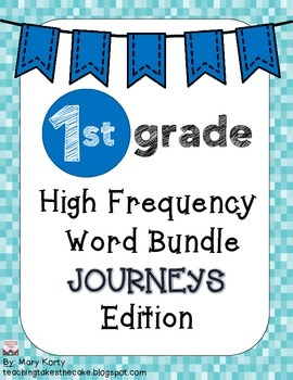 High Frequency Word Bundle - Journeys Edition Grade 1