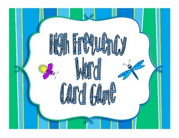 High Frequency Word Card Game (Insect Themed)