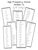 High Frequency Word Cards, Grade K-6