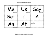 High Frequency Word Cards Level 2