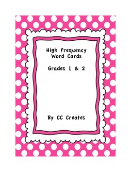High Frequency Word Cards - Pink Polka Dot