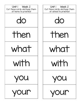 Student Sight Word Cards - Reach for Reading First Grade