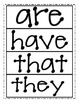 High Frequency Word Cards - Reading Street First Grade (20