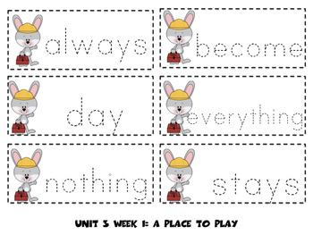 High Frequency Word Cards- Supplement 2013 Reading Street Grade 1 Unit 3