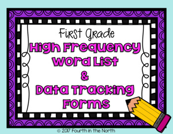 High Frequency Word Cards and Data Tracking Forms- First Grade