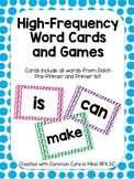 High-Frequency Word Cards and Games Polka Dot