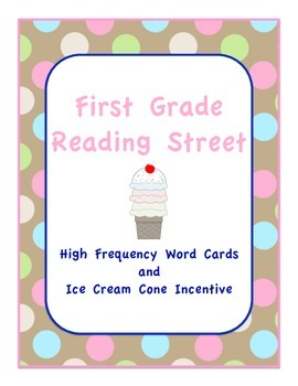 High Frequency Word Cards and Ice Cream Cone Incentive