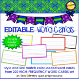 High Frequency Word Cards blank