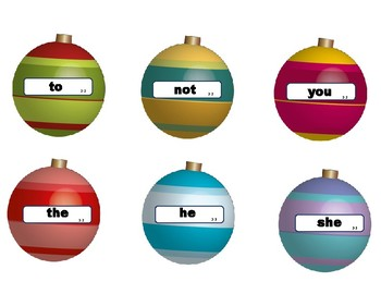 High Frequency Word Christmas Ornaments - VIPKID Level 2 Interactive