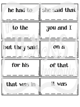 High Frequency Word / Sight Word Daily Practice Pack {SET 6-10 BUNDLE}