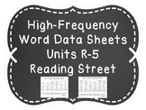 High-Frequency Word Data Sheets- 1st Grade Reading Street