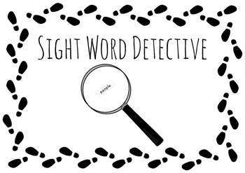 High Frequency Word Detective (file folder game)