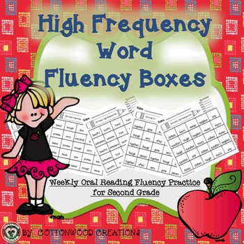 High Frequency Word Fluency Boxes