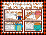 High Frequency Word Find, Write, and Read List A Bundled