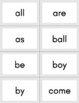 High Frequency Word Flachcards - 50 Words