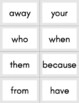High Frequency Word Flashcards - 100 Words