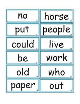 High Frequency Word Flashcards/Word Wall - Reading Street 2007 Grade 1
