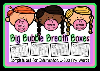 High Frequency Word Fluency Intervention: Full Set Fry Wor