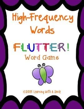 High Frequency Word Game - FLUTTER! - Lots of Fun for Small Literacy Groups