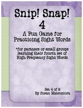 High-Frequency Word Game: Snip! Snap! 4