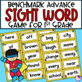High Frequency Word Game using 1st Grade Benchmark Advance *editable*