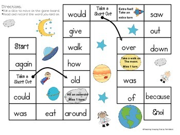 High Frequency Word Games