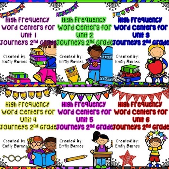 High Frequency Word Games for Journeys 2nd Grade Unit 1, 2, 3, 4, 5, 6