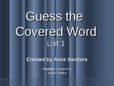 High Frequency Word-Guess the Covered Word (List 1)