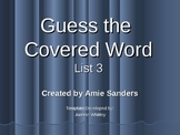 High Frequency Word-Guess the Covered Word (List 3)