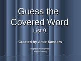 High Frequency Word-Guess the Covered Word (List 9)
