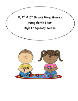 High Frequency Word (HFW) Bingo for grades K, 1 and 2