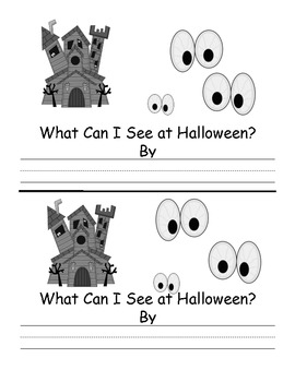 High Frequency Word Halloween Emergent Reader
