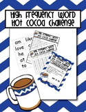 High Frequency Word Hot Cocoa Challenge