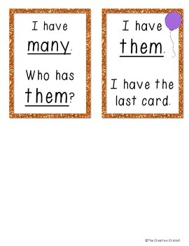 High Frequency Word I Have Who Has? Games (1st Gr Reading Street Unit R-5!)