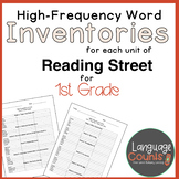 High-Frequency Word Inventories for 1st Grade Reading Street