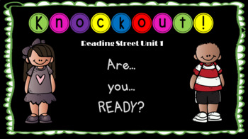 Reading Street Units 1-5 - High Frequency Word Knockout BUNDLE (EDITABLE)