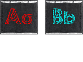 Chalkboard High Frequency Word Letter Headers