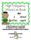 High Frequency Word List Book (Student Resource)