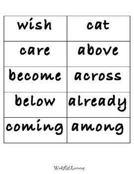 High Frequency Word List C