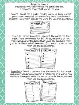 High-Frequency Word Mystery Word Cards for First Grade {Reading Street}